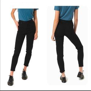Afends Luckies High Waist Slim Jeans Black